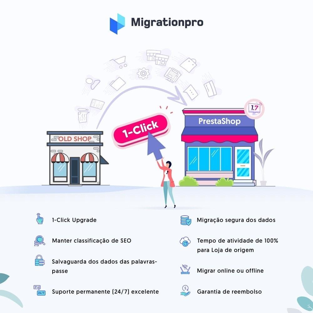 module - Migração de Dados & Registro - Upgrade PrestaShop e ferramenta de Migração - 1