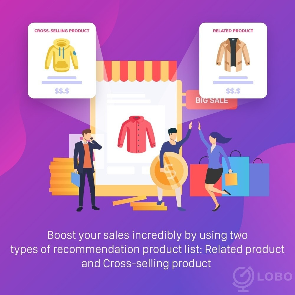 module - Cross-selling & Product Bundle - All-in-one: Related Products, Cross Selling, Upsell - 3