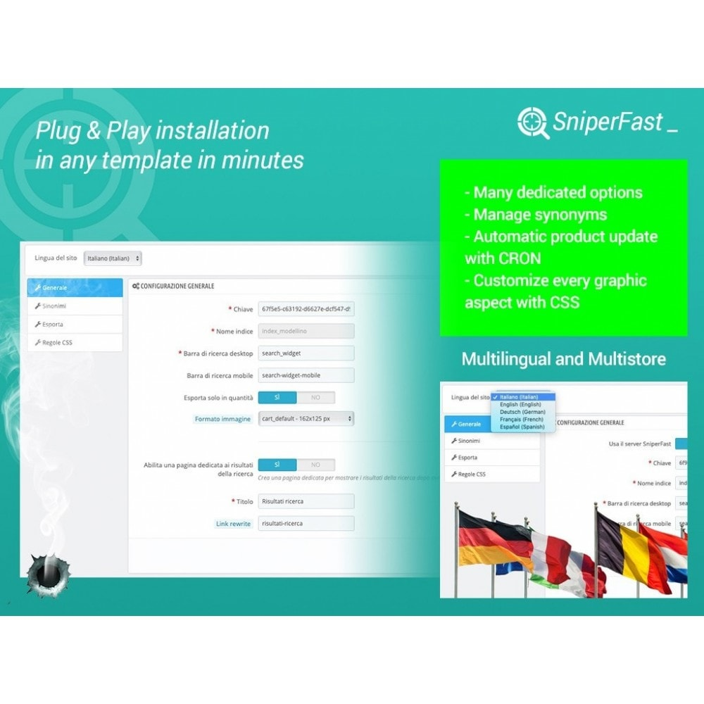 module - Search & Filters - Fast and instant search for ecommerce - SniperFast - 2