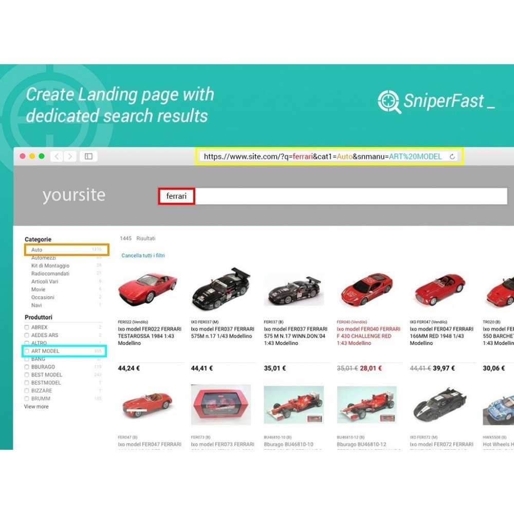 module - Search & Filters - Fast and instant search for ecommerce - SniperFast - 4