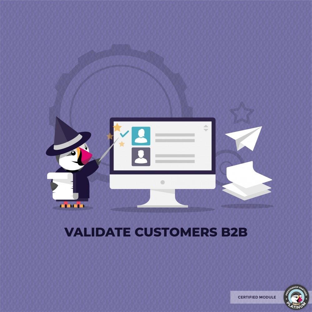 module - Klantenservice - Validate Customers shop B2B - 1