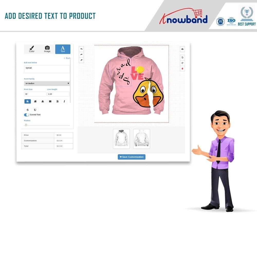 module - Combinations & Product Customization - Product Customizer/Designer - 4