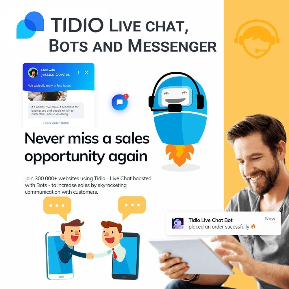 module - Поддержка и онлайн-чат - Tidio Live chat, Bots and Messenger - 1