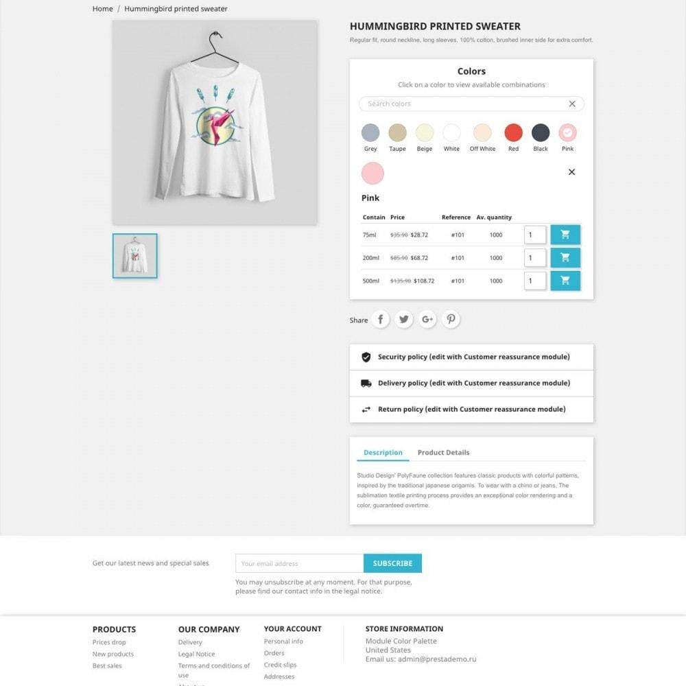 module - Diversificação & Personalização de Produtos - Color Palette for Product Attributes - 1