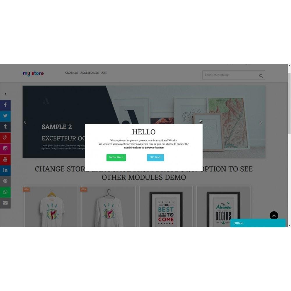 module - Pop-up - Message contextuel et liens basés sur le pays du client - 1
