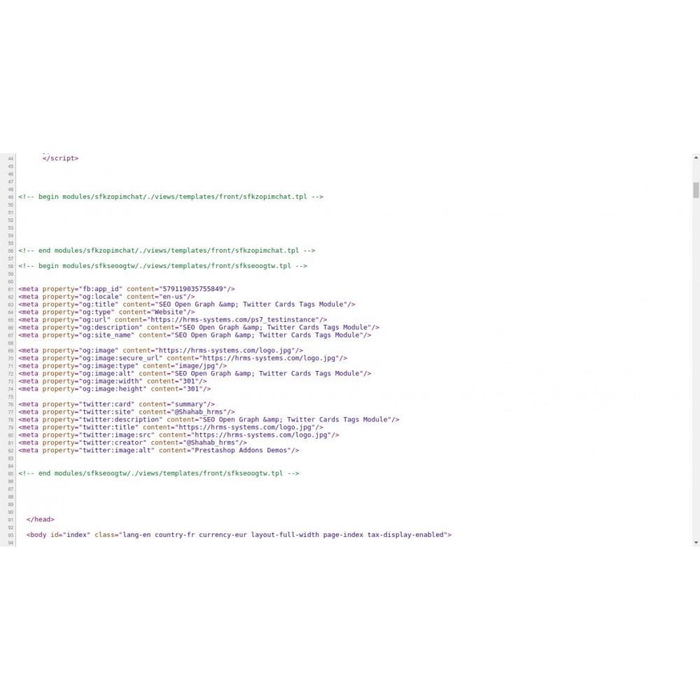 module - SEO (référencement naturel) - Référencement Open Graph & Twitter Card Tags Generator - 2