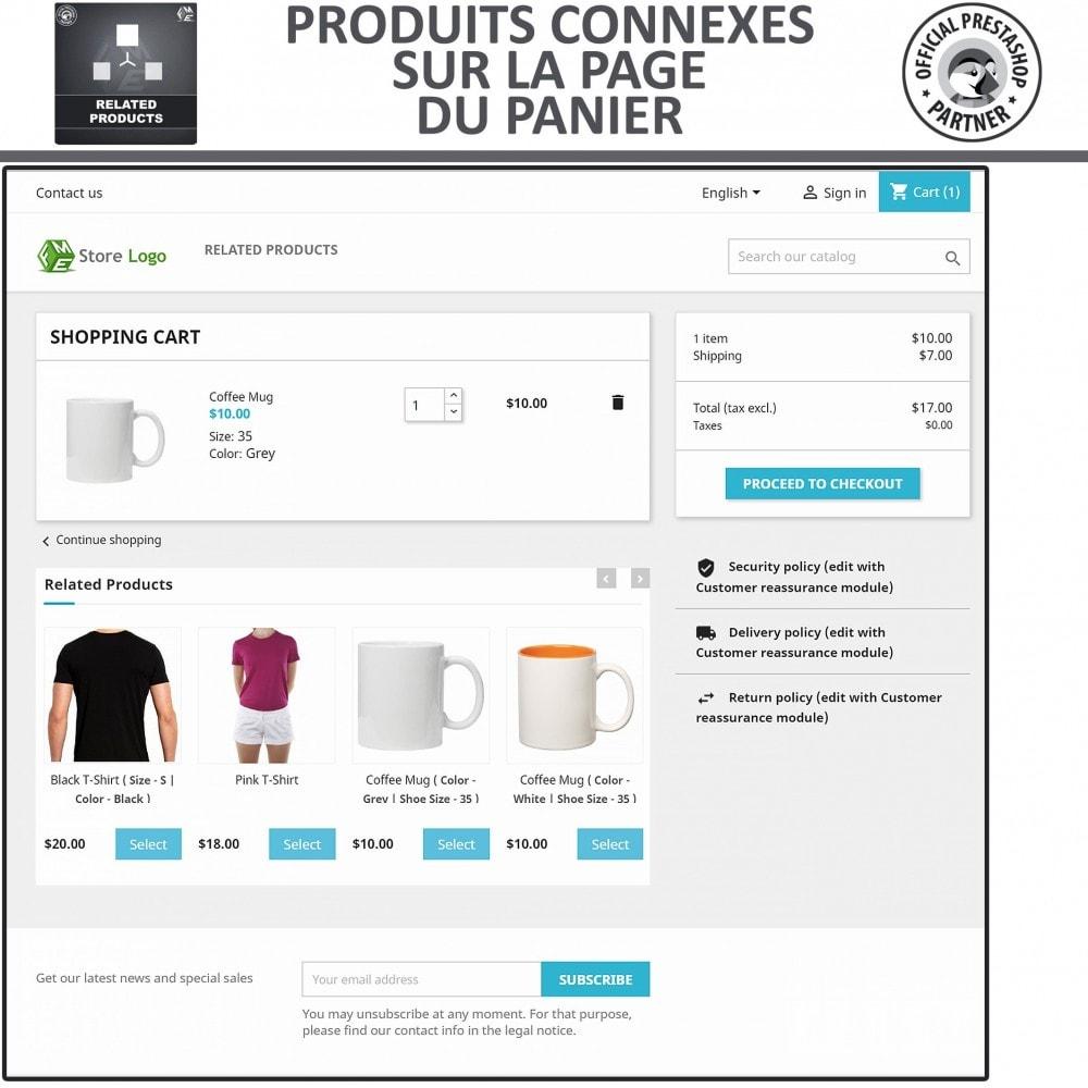 module - Ventes croisées & Packs de produits - Produits Connexes, Curseur Réactif de Produits Connexes - 3