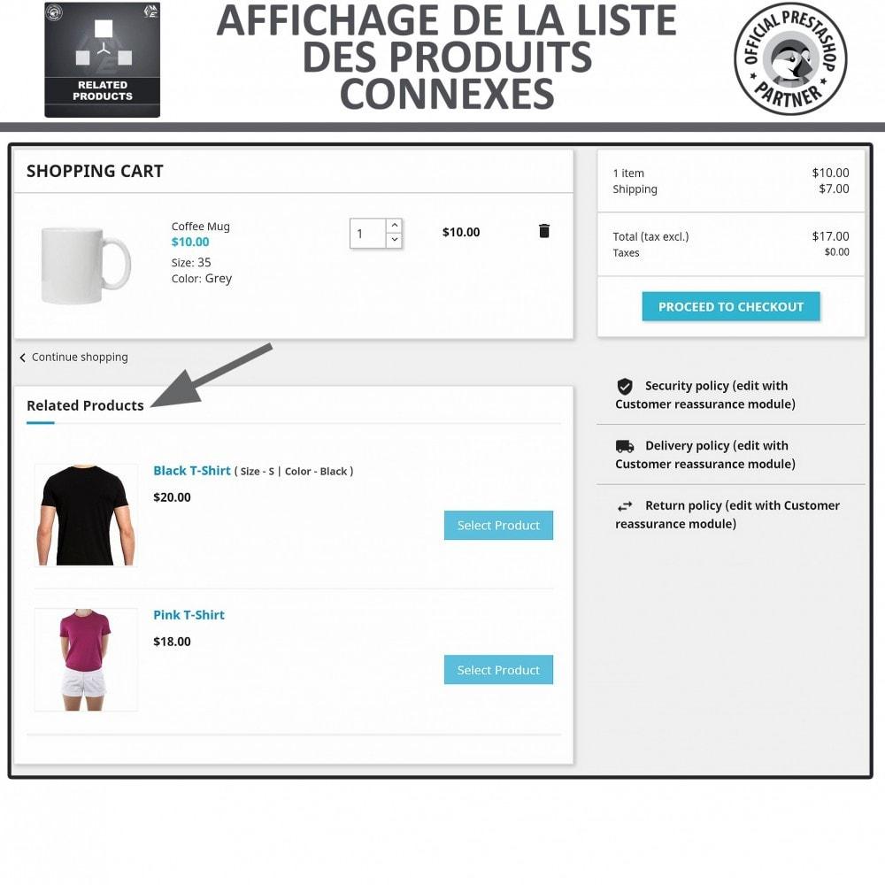 module - Ventes croisées & Packs de produits - Produits Connexes, Curseur Réactif de Produits Connexes - 4
