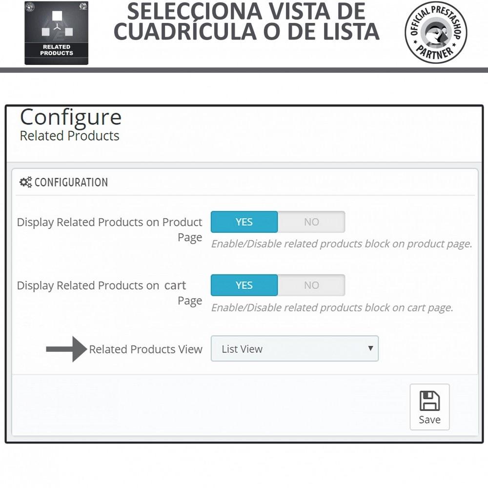 module - Ventas cruzadas y Packs de productos - Deslizador de productos relacionados / similares - 5