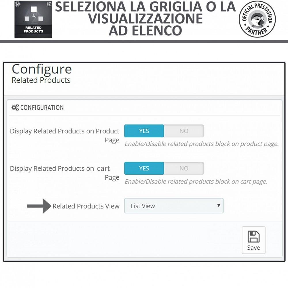 module - Cross-selling & Product Bundle - Prodotti Correlati,  Una Slider per Prodotti Simili - 5
