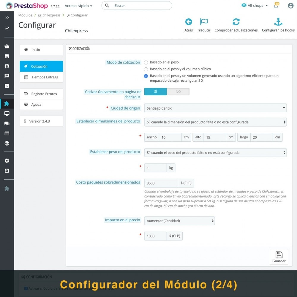 module - Transportistas - Chilexpress - 4