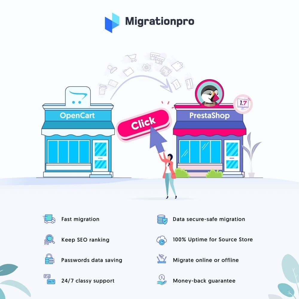 module - Migracja & Backup - MigrationPro: OpenCart to PrestaShop Migration Tool - 1