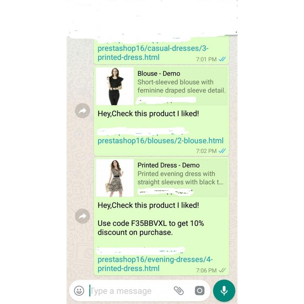 module - Compartir contenidos y Comentarios - Product WhatsApp Share - 7