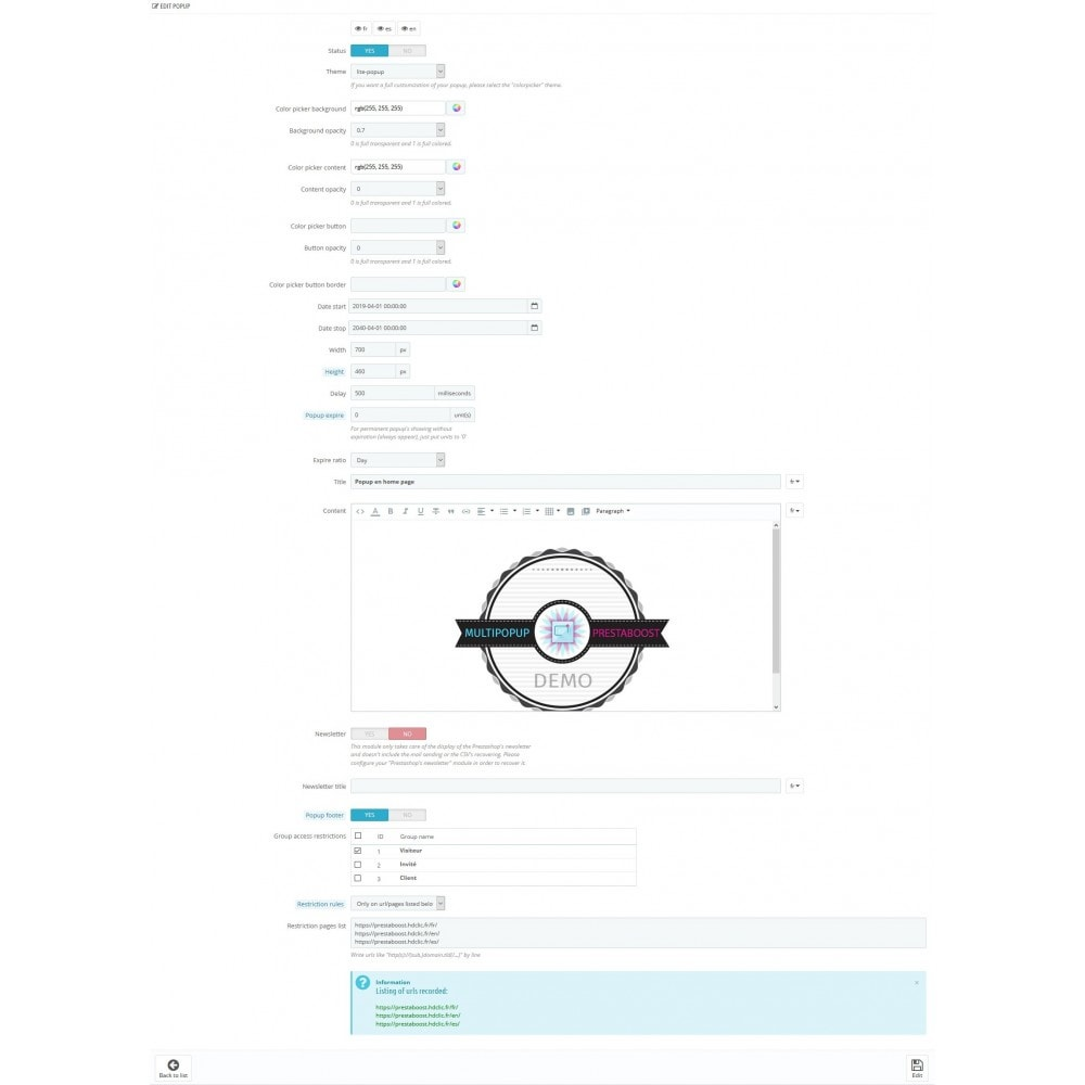 module - Всплывающие окна - Multi pop-up Prestaboost - 8