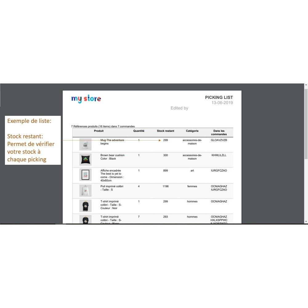 module - Préparation & Expédition - Picking list - liste des produits à expédier - 8