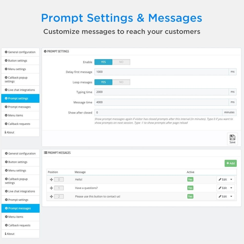module - Asistencia & Chat online - All-in-One - Live Chat, WhatsApp, Call Back, Messenger - 10
