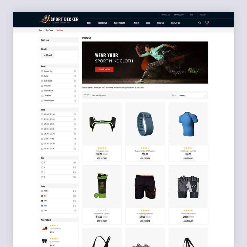 theme - Sport, Activiteiten & Reizen - Sport Decker Sport Store - 5