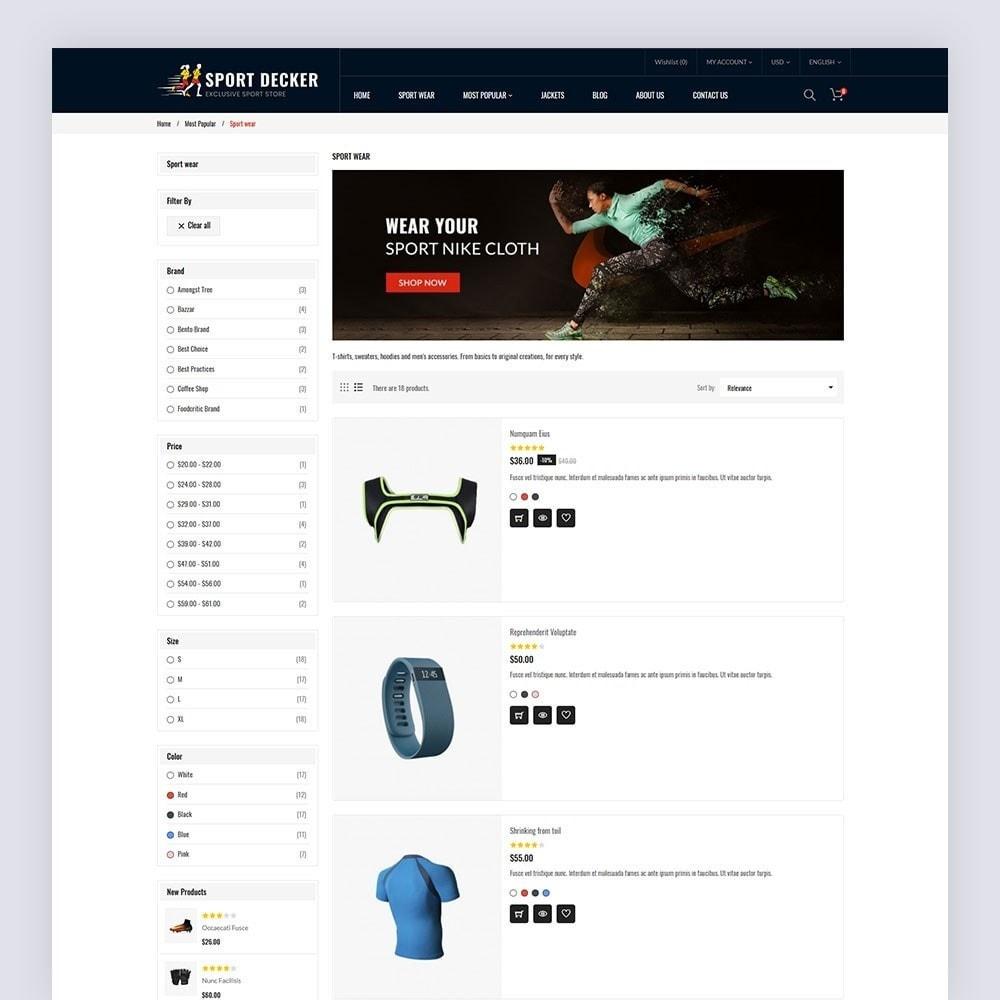 theme - Sport, Activiteiten & Reizen - Sport Decker Sport Store - 6