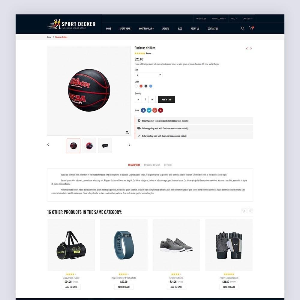theme - Sport, Activiteiten & Reizen - Sport Decker Sport Store - 7