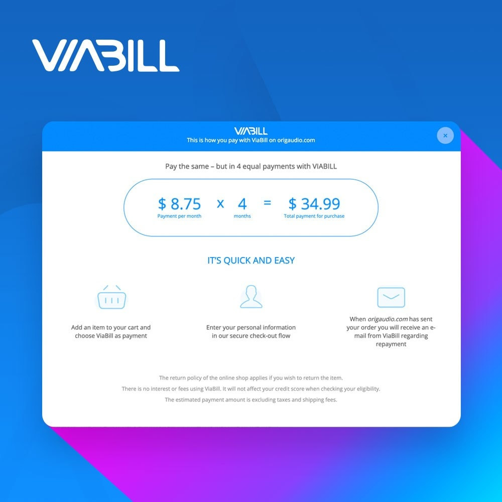 module - Płatność kartą lub Płatność Wallet - ViaBill Official – Try, before you buy! - 3
