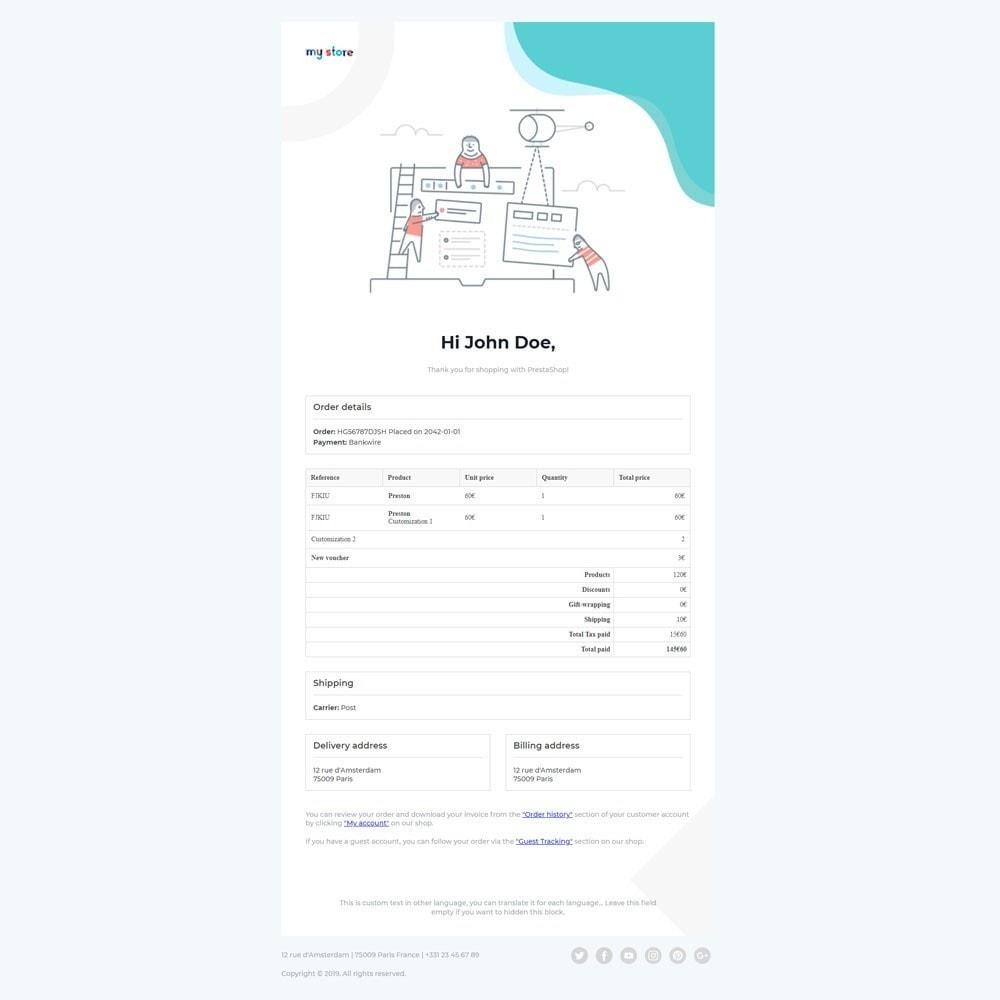 email - E-mailtemplates van PrestaShop - Kool - Premium Email Template - 4