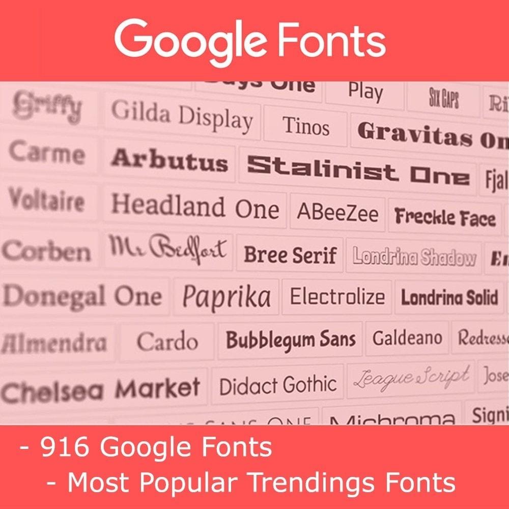 module - Personalización de la página - Google Fonts - 1