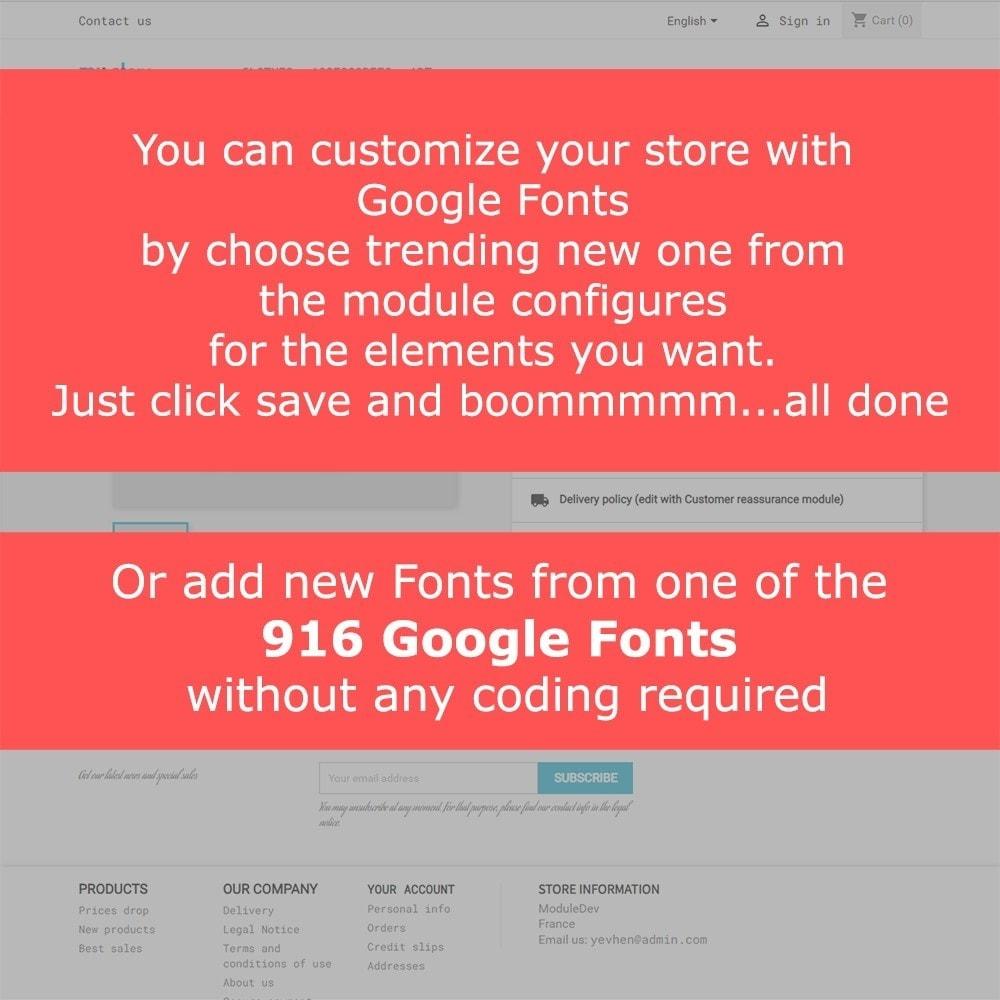 module - Personalización de la página - Google Fonts - 2