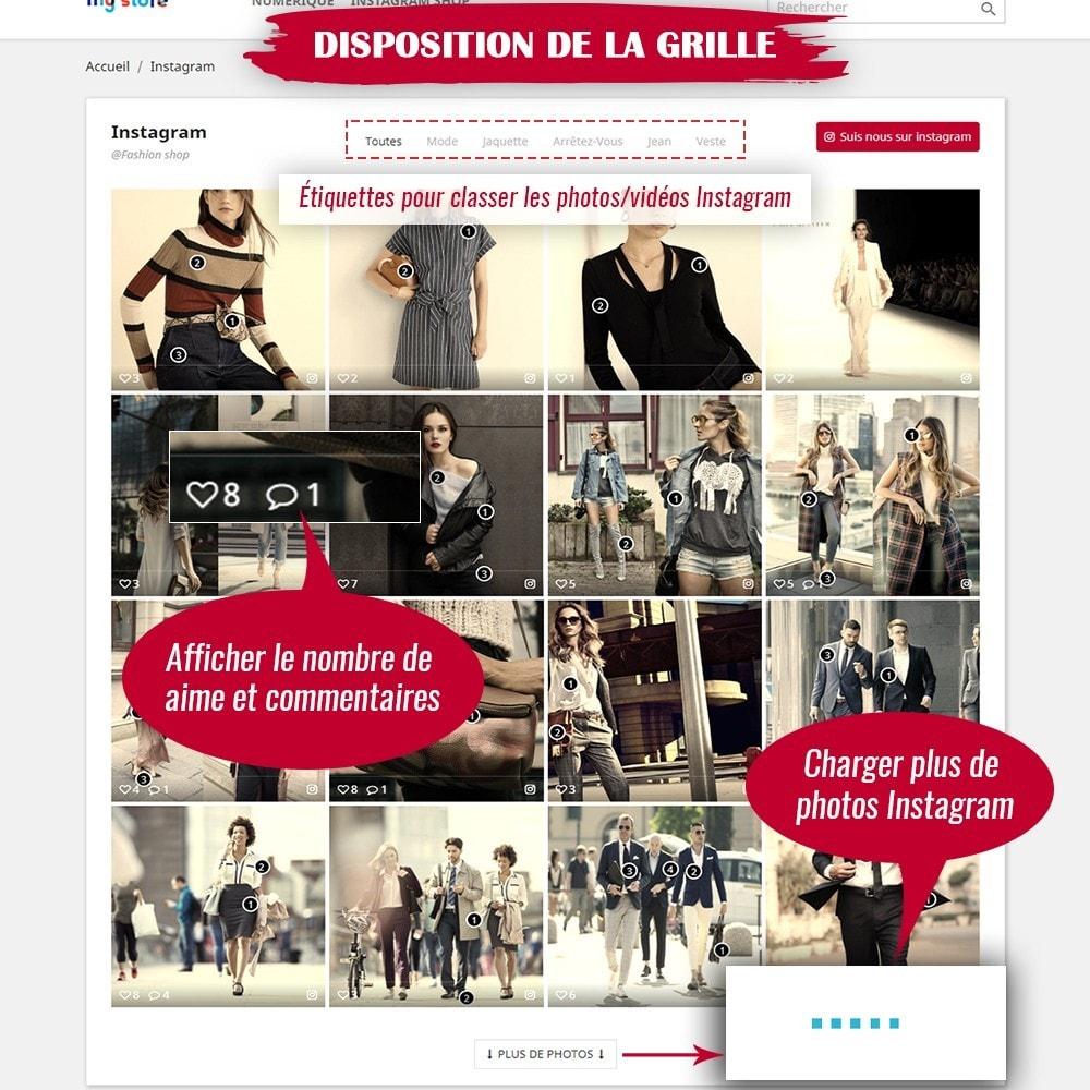 module - Sliders & Galeries - INS Shopping Slider - Intégration de réseau social - 6
