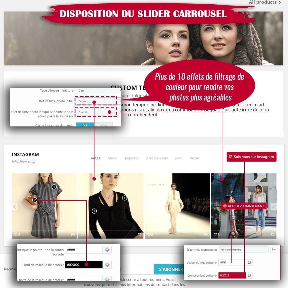 module - Sliders & Galeries - INS Shopping Slider - Intégration de réseau social - 7