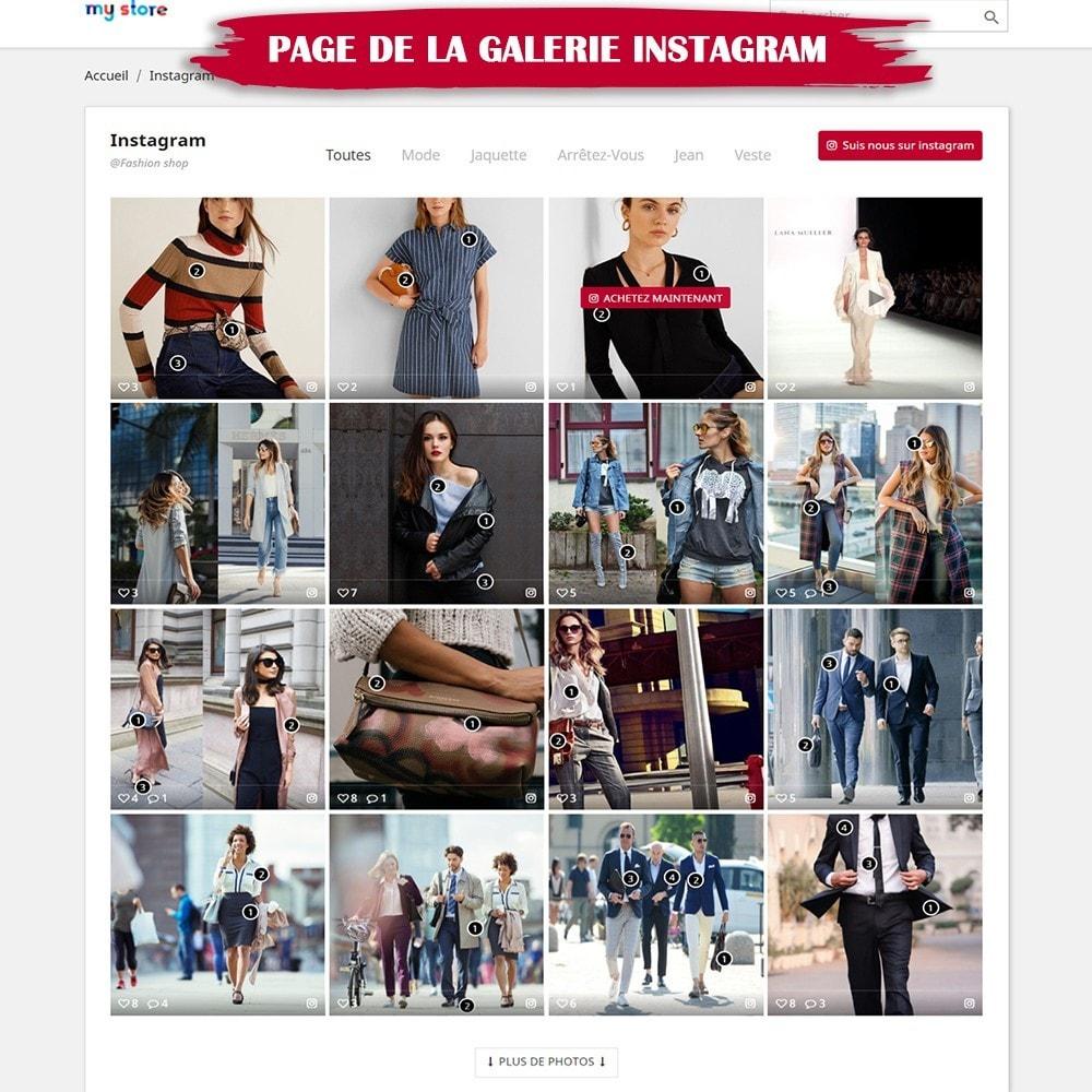 module - Sliders & Galeries - INS Shopping Slider - Intégration de réseau social - 8