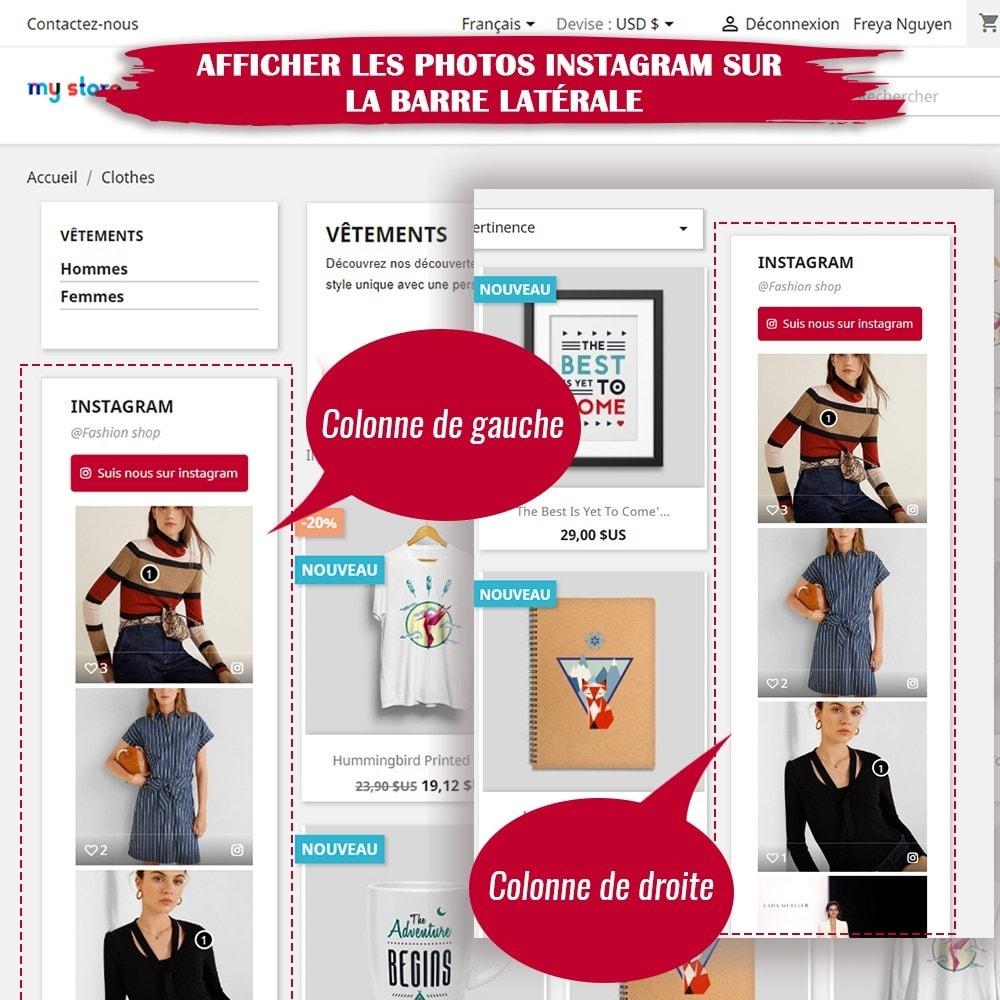 module - Sliders & Galeries - INS Shopping Slider - Intégration de réseau social - 10