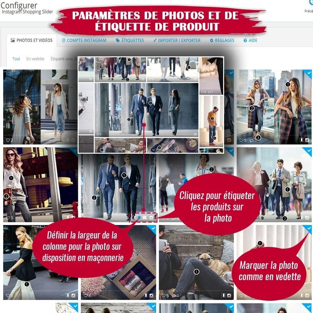 module - Sliders & Galeries - INS Shopping Slider - Intégration de réseau social - 12