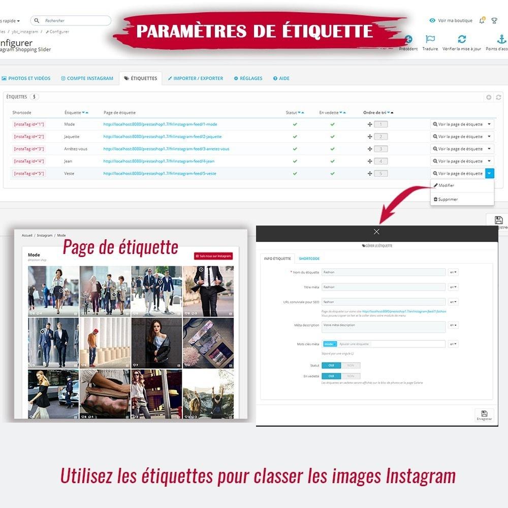 module - Sliders & Galeries - INS Shopping Slider - Intégration de réseau social - 14