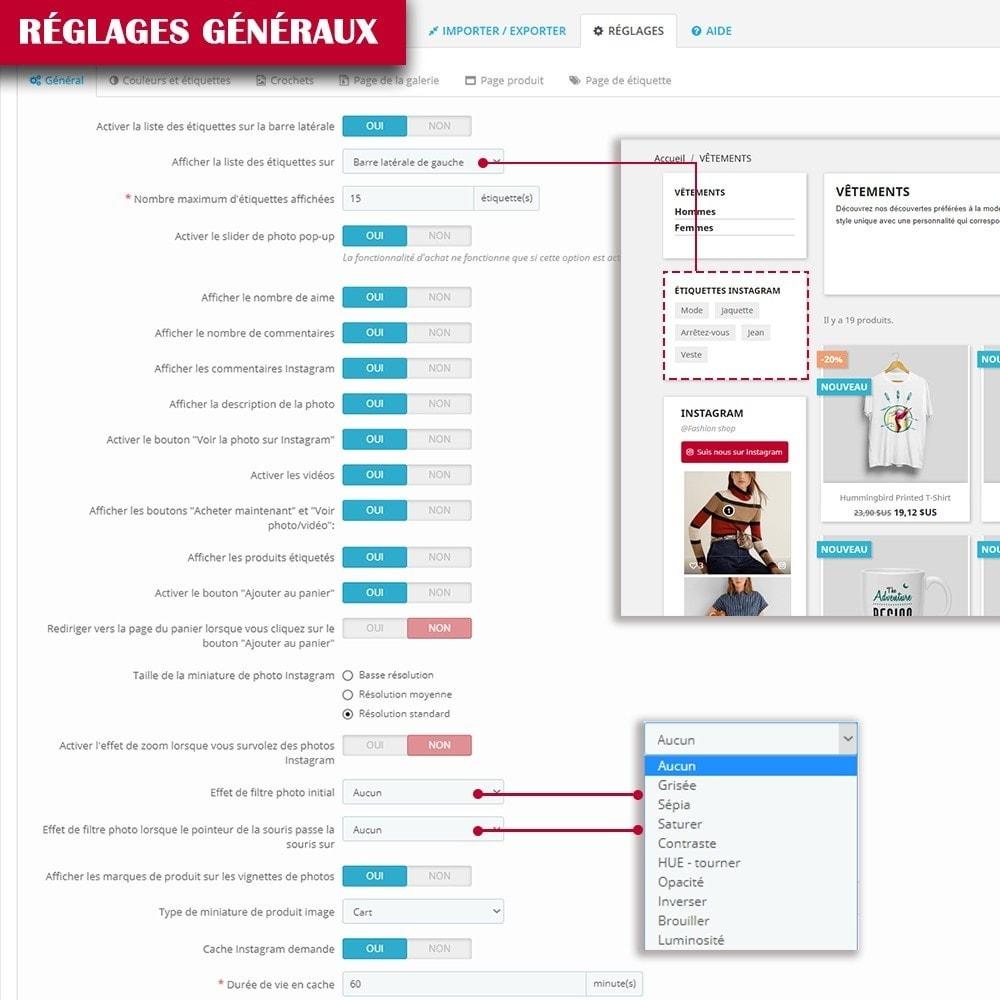 module - Sliders & Galeries - INS Shopping Slider - Intégration de réseau social - 15