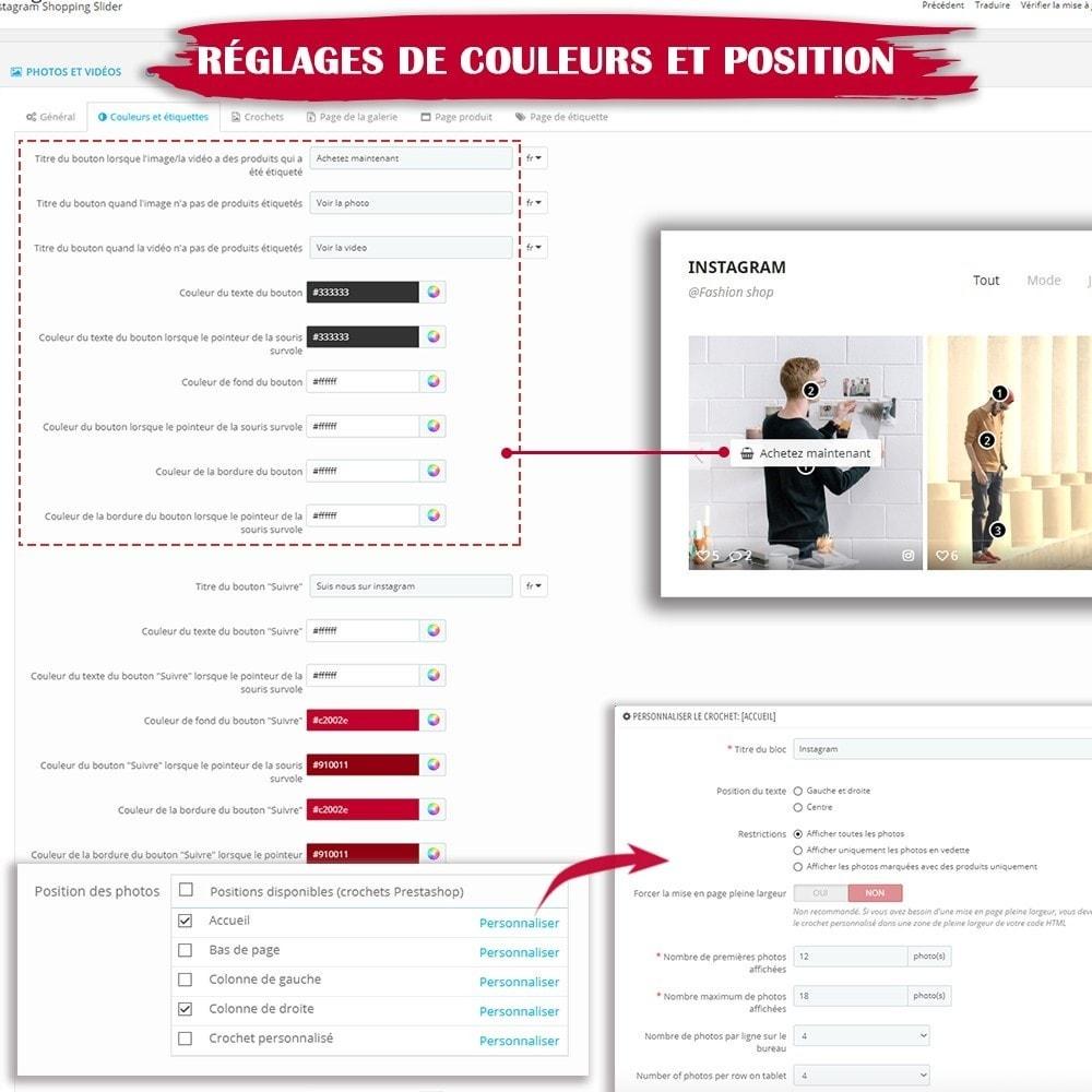 module - Sliders & Galeries - INS Shopping Slider - Intégration de réseau social - 16