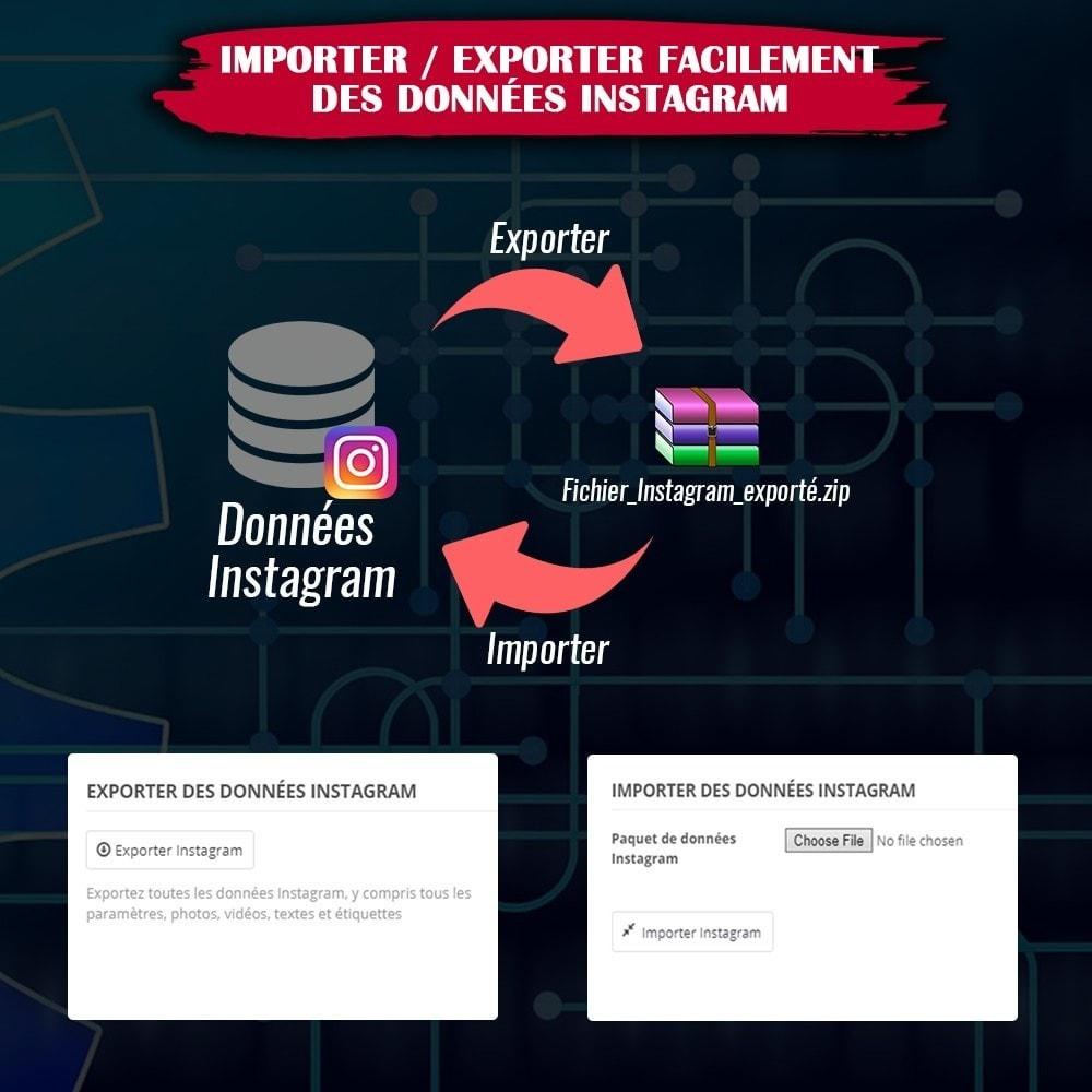 module - Sliders & Galeries - INS Shopping Slider - Intégration de réseau social - 18