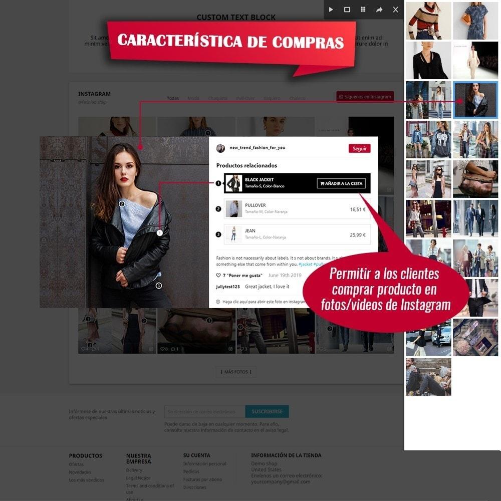 module - Sliders y Galerías de imágenes - INS Shopping Slider - Integración de redes sociale - 4