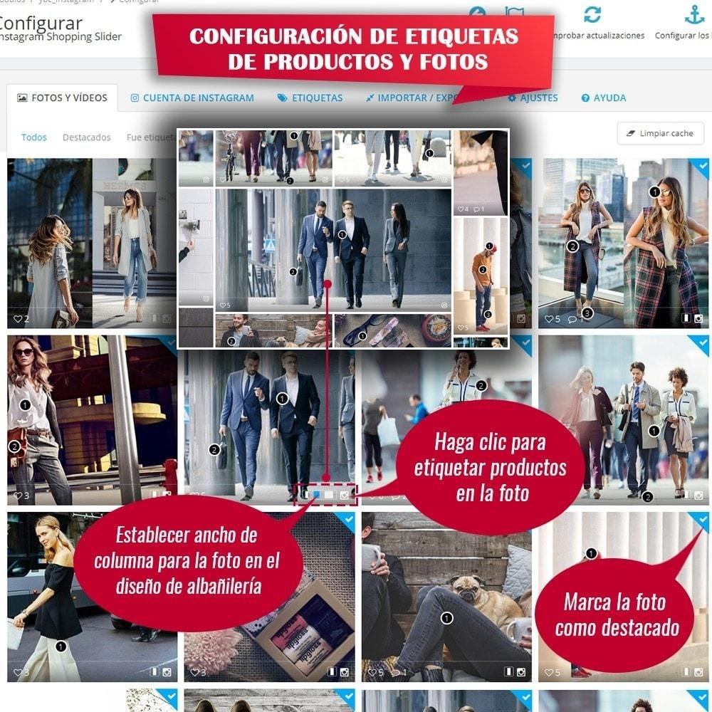 module - Sliders y Galerías de imágenes - INS Shopping Slider - Integración de redes sociale - 12