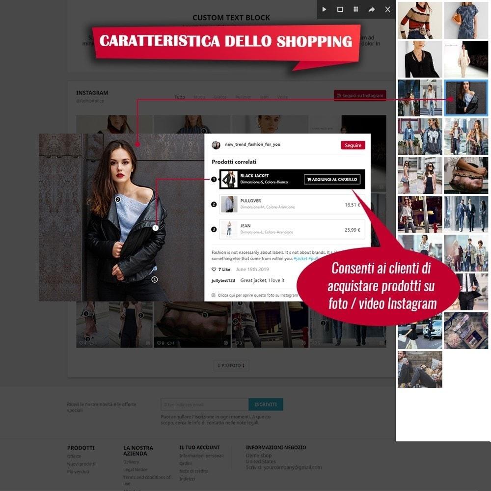 module - Slider & Gallerie - INS Shopping Slider - Integrazione social network - 4