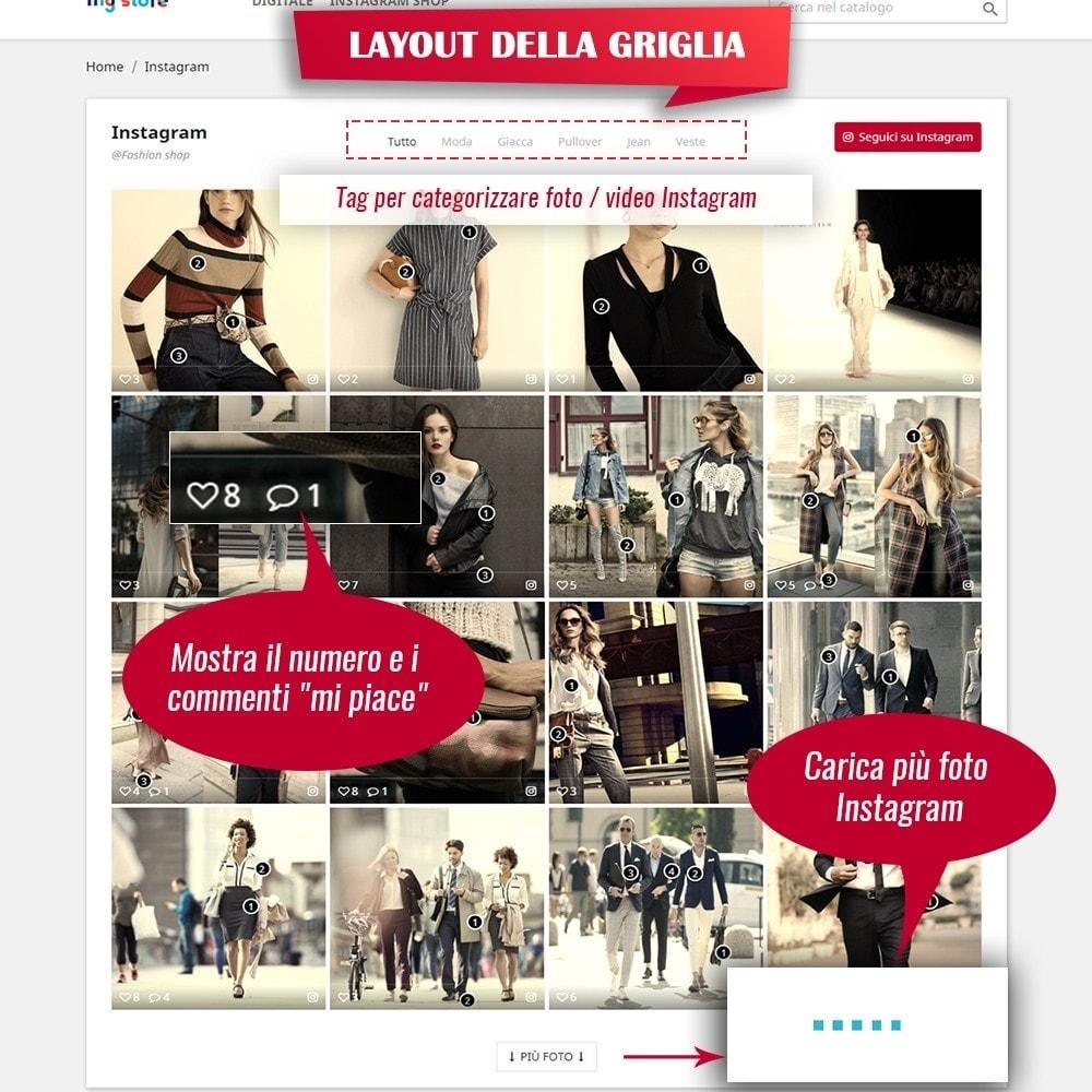 module - Slider & Gallerie - INS Shopping Slider - Integrazione social network - 6