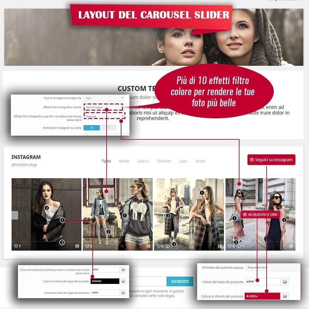 module - Slider & Gallerie - INS Shopping Slider - Integrazione social network - 7