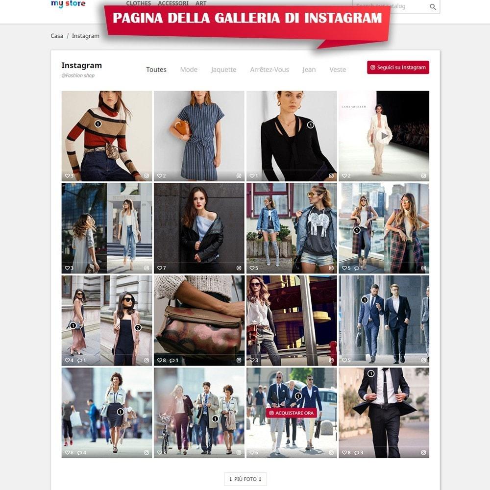 module - Slider & Gallerie - INS Shopping Slider - Integrazione social network - 8