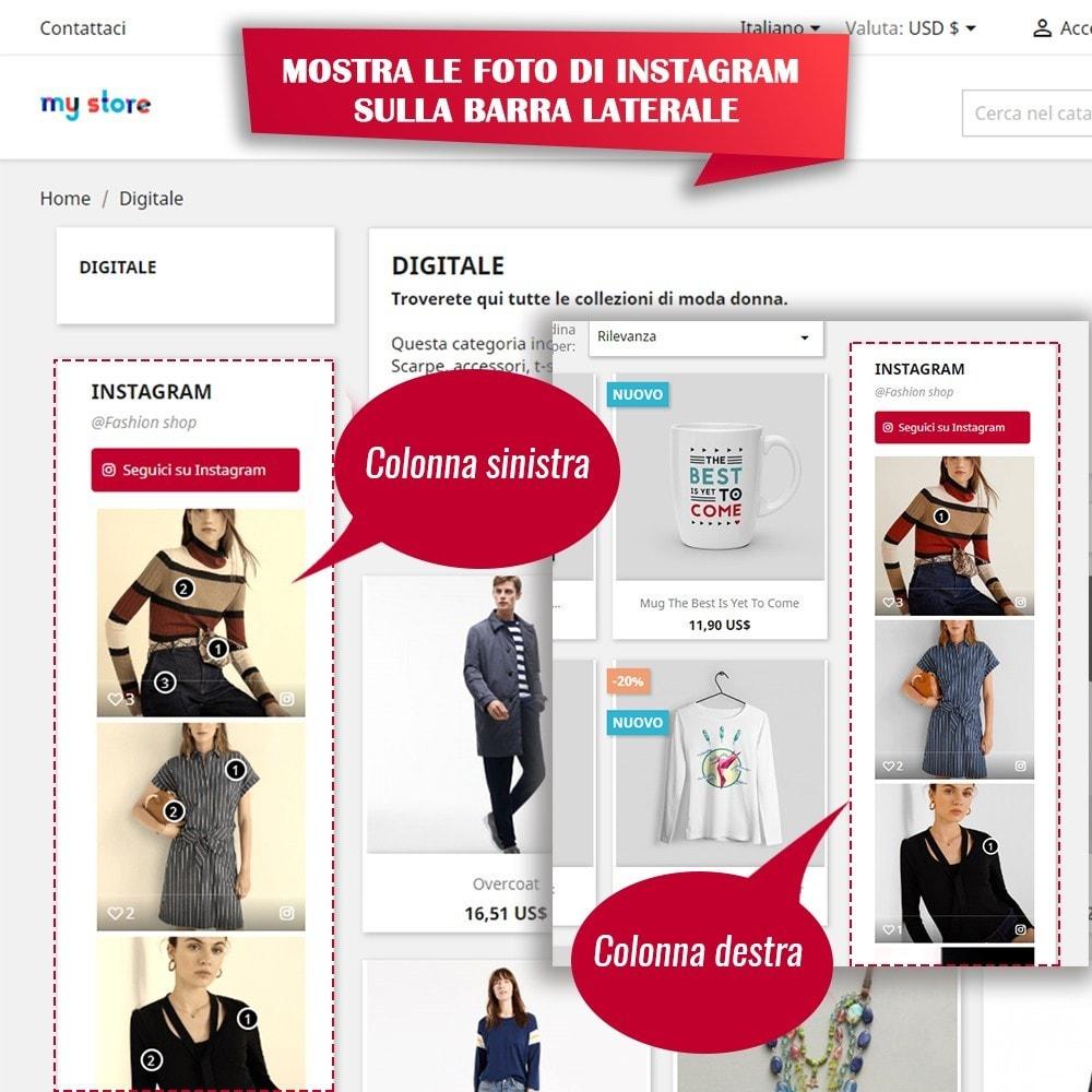 module - Slider & Gallerie - INS Shopping Slider - Integrazione social network - 10