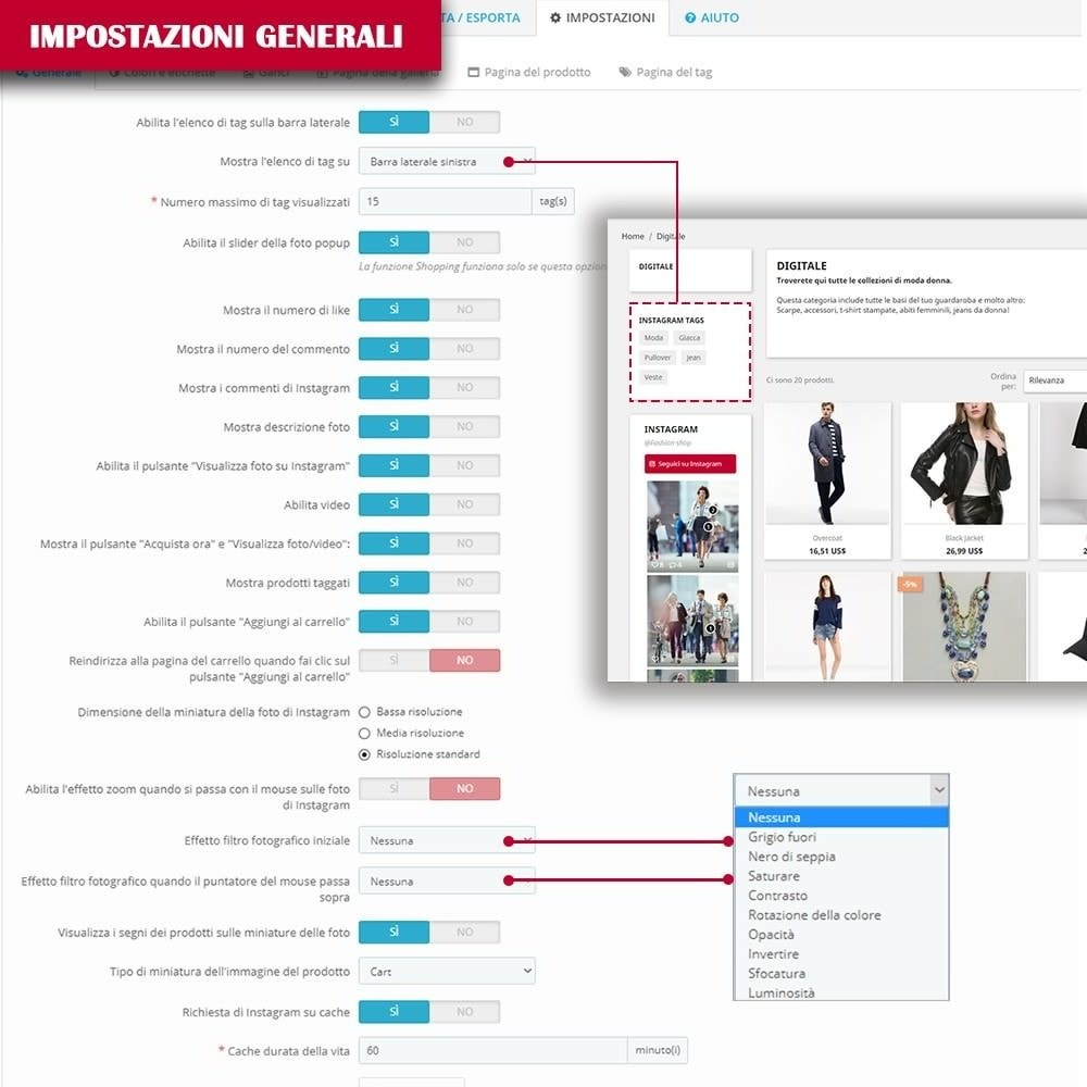 module - Slider & Gallerie - INS Shopping Slider - Integrazione social network - 15