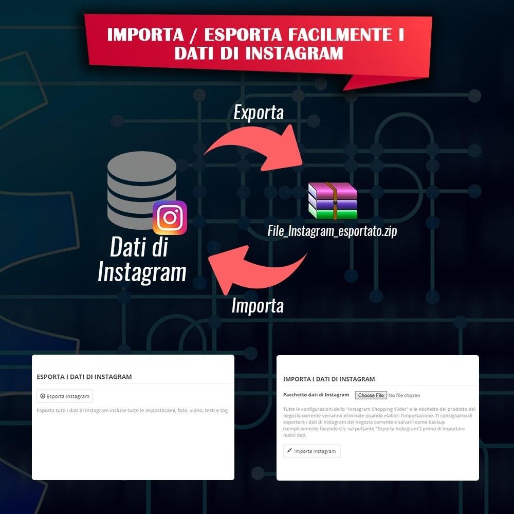 module - Slider & Gallerie - INS Shopping Slider - Integrazione social network - 18