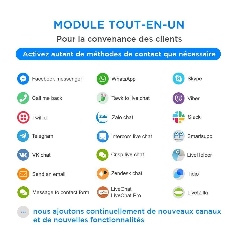 module - Support & Chat Online - Tout-en-Un - Live Chat, WhatsApp, de rappel, Messenger - 1