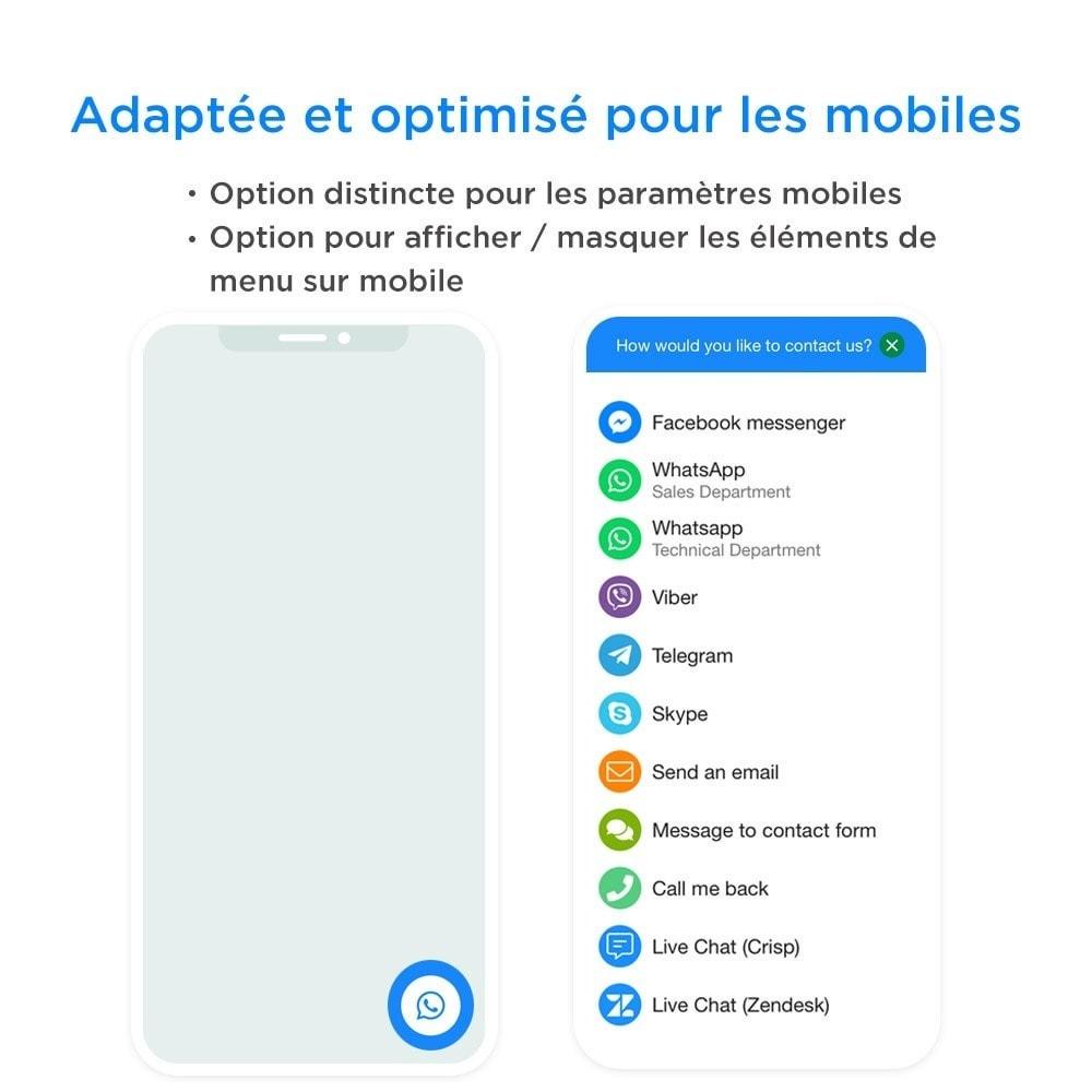 module - Support & Chat Online - Tout-en-Un - Live Chat, WhatsApp, de rappel, Messenger - 3