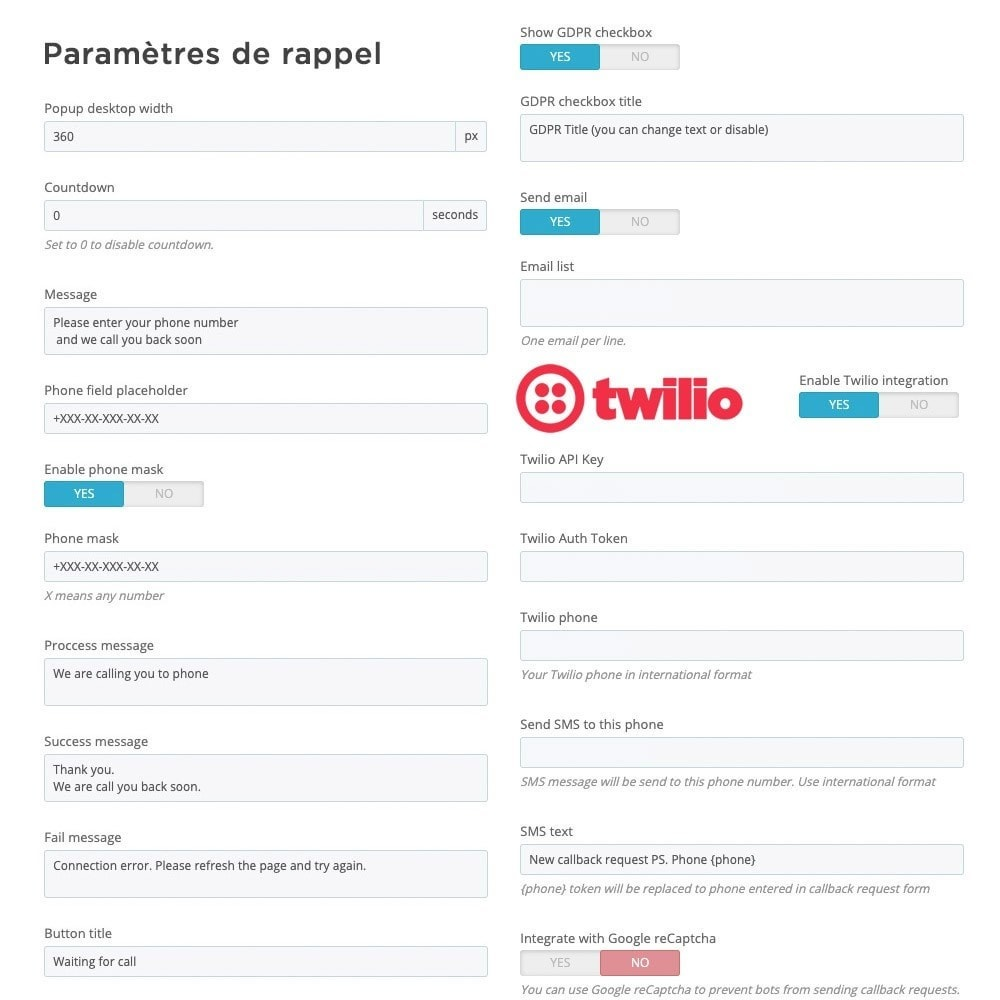 module - Support & Chat Online - Tout-en-Un - Live Chat, WhatsApp, de rappel, Messenger - 6