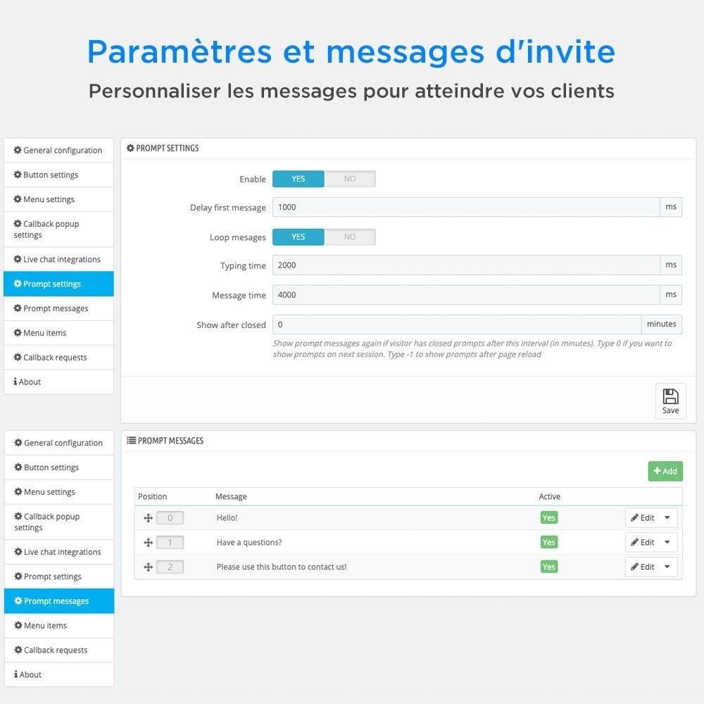 module - Support & Chat Online - Tout-en-Un - Live Chat, WhatsApp, de rappel, Messenger - 10
