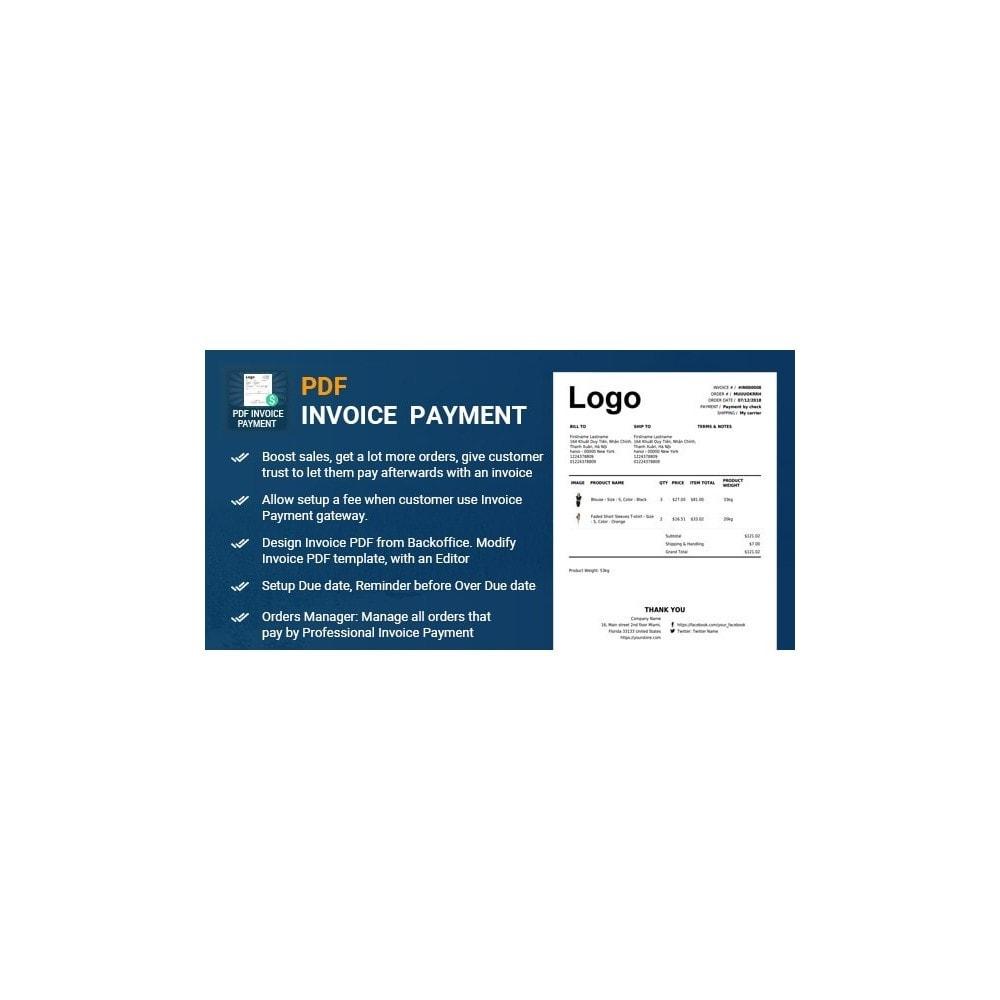 module - Paiement par Facture - Professional Invoice, Billing Payment - Pay by Invoice - 1